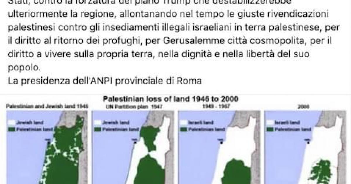 Cartina Geografica Della Palestina Di Oggi.Cartine Geografiche Taroccate L Anpi Roma Diffonde Fakenews